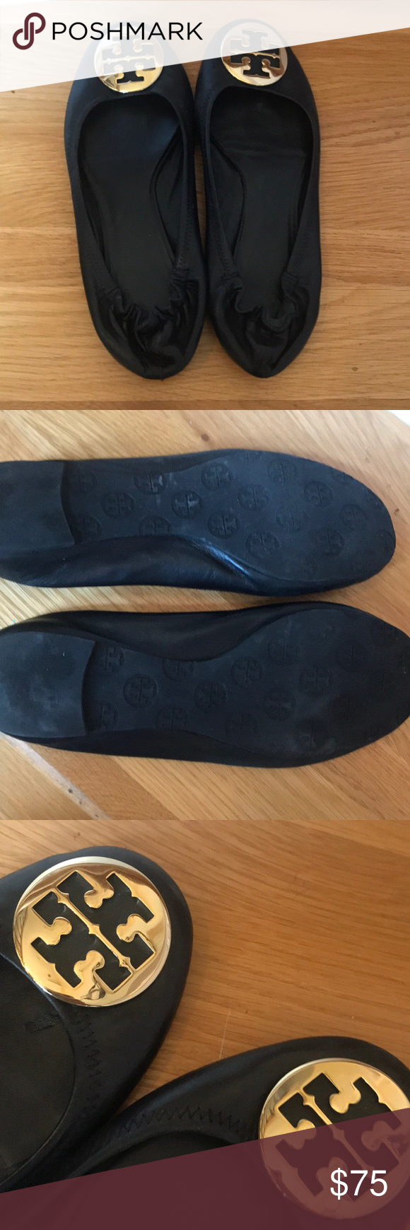 dd70f7f6849 Tory Burch Minnie flats size 9 A classic flat from Tory Burch. They are  authentic