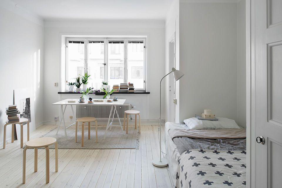 Small bright studio apartment studio Pinterest Déco maison
