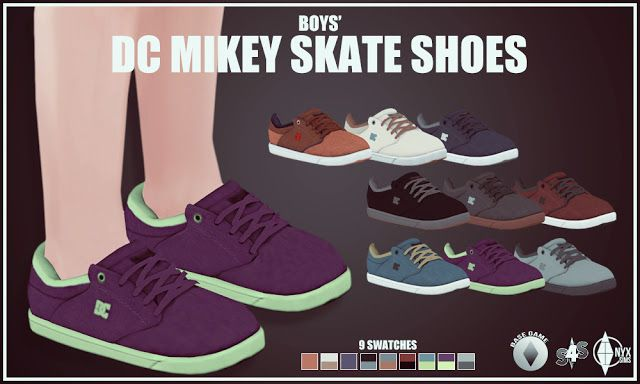 Sims 4 CC's - The Best: BOYS' DC MIKEY SKATE SHOES by Onyx Sims