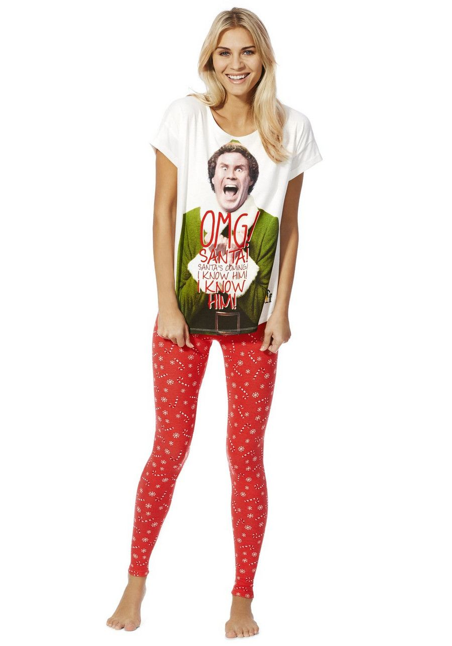 422817c562 Clothing at Tesco | Elf the Movie Christmas Pyjamas > nightwear > Women's  nightwear > Women