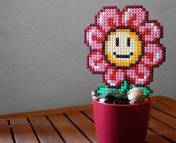 Smiling Daisy Super Mario Bros Inspired Kawaii Cute by BeadxBead, €17.00