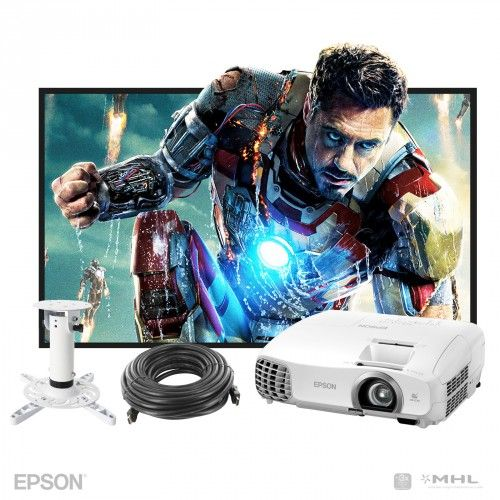 Epson EH-TW5200 Home Theatre Projector Package 3D Full HD