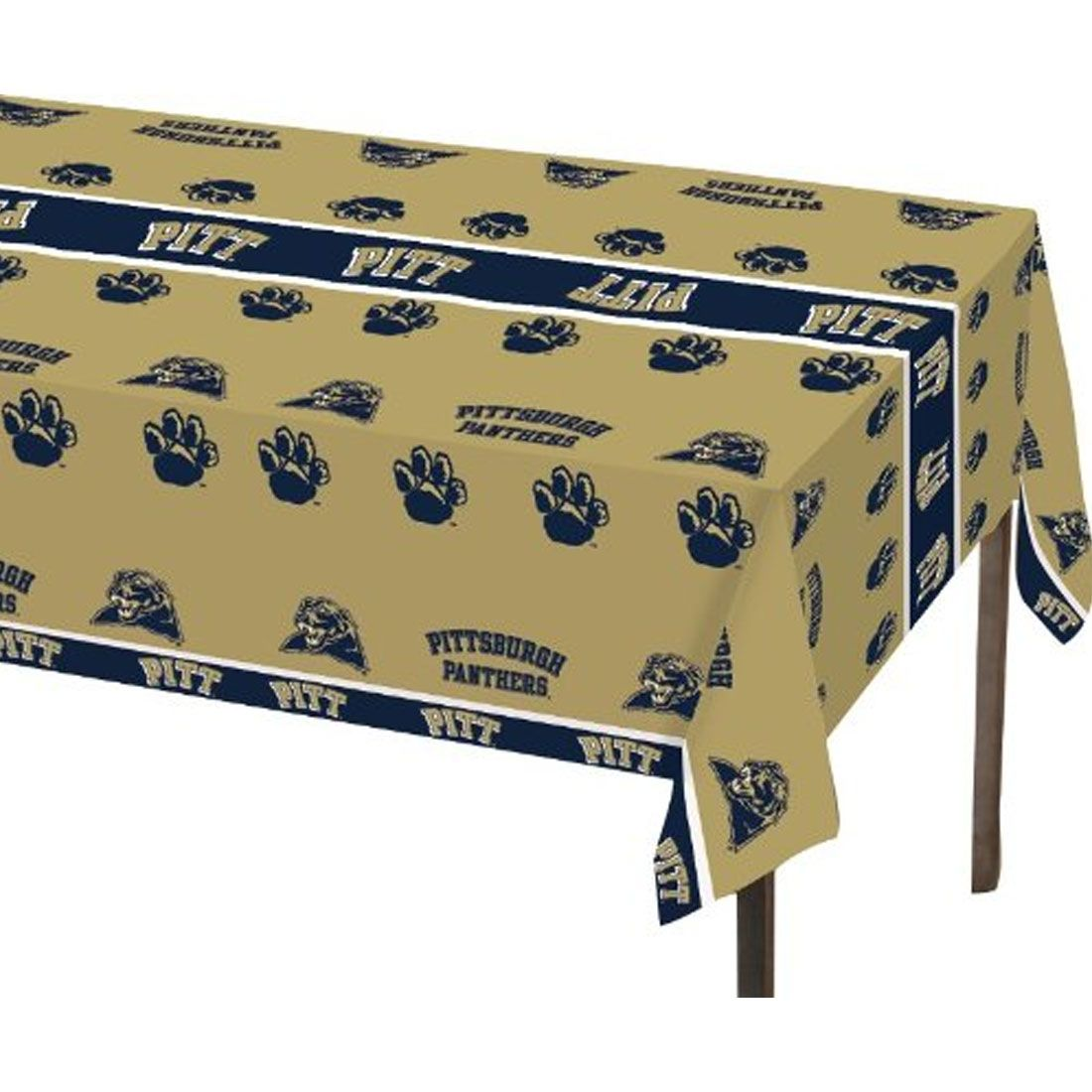 Univ of Pittsburgh 54 x 108 Plastic Tablecover/Case of 12