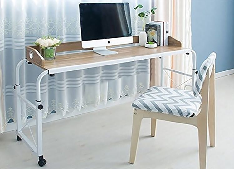 Unlike Hospital Overbed Tables This One Is A Full Sized Desk That Can Fit Multiple Monitors And Laptops