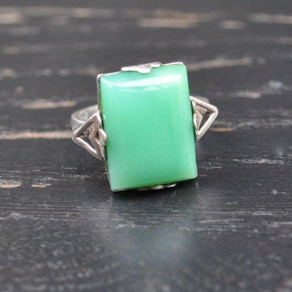 vintage natural jade