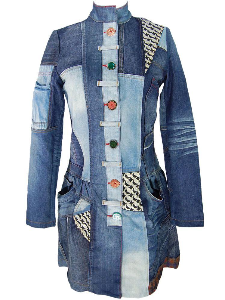 manteau desigual bleu pour femme sur des marques et vous. Black Bedroom Furniture Sets. Home Design Ideas