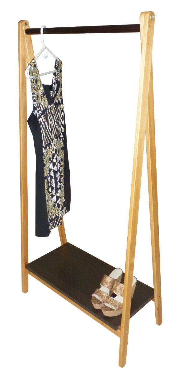 Colgador de ropa portatil closet y detalles pinterest for Colgadores de ropa metalicos
