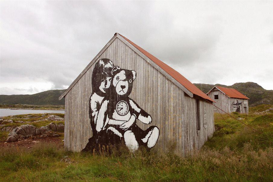 STREET ART LOFOTEN  I stumbled upon a Street Art projekt by Pöbel and Dolk, when visiting the islands of Lofoten in Northern Norway.    More photos at http://cargocollective.com/pierreropero/STREET-ART-LOFOTEN