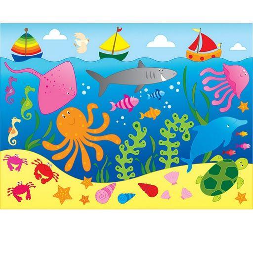 Fondo Del Mardibujo Animado Buscar Con Google Preschool Crafts Drawing For Kids Ocean Crafts
