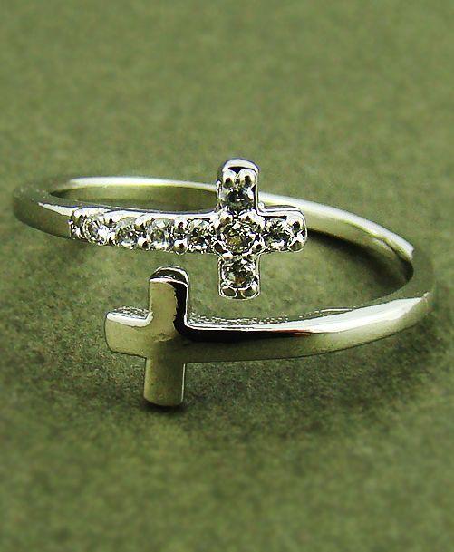 Diamond Cross Rings For Women