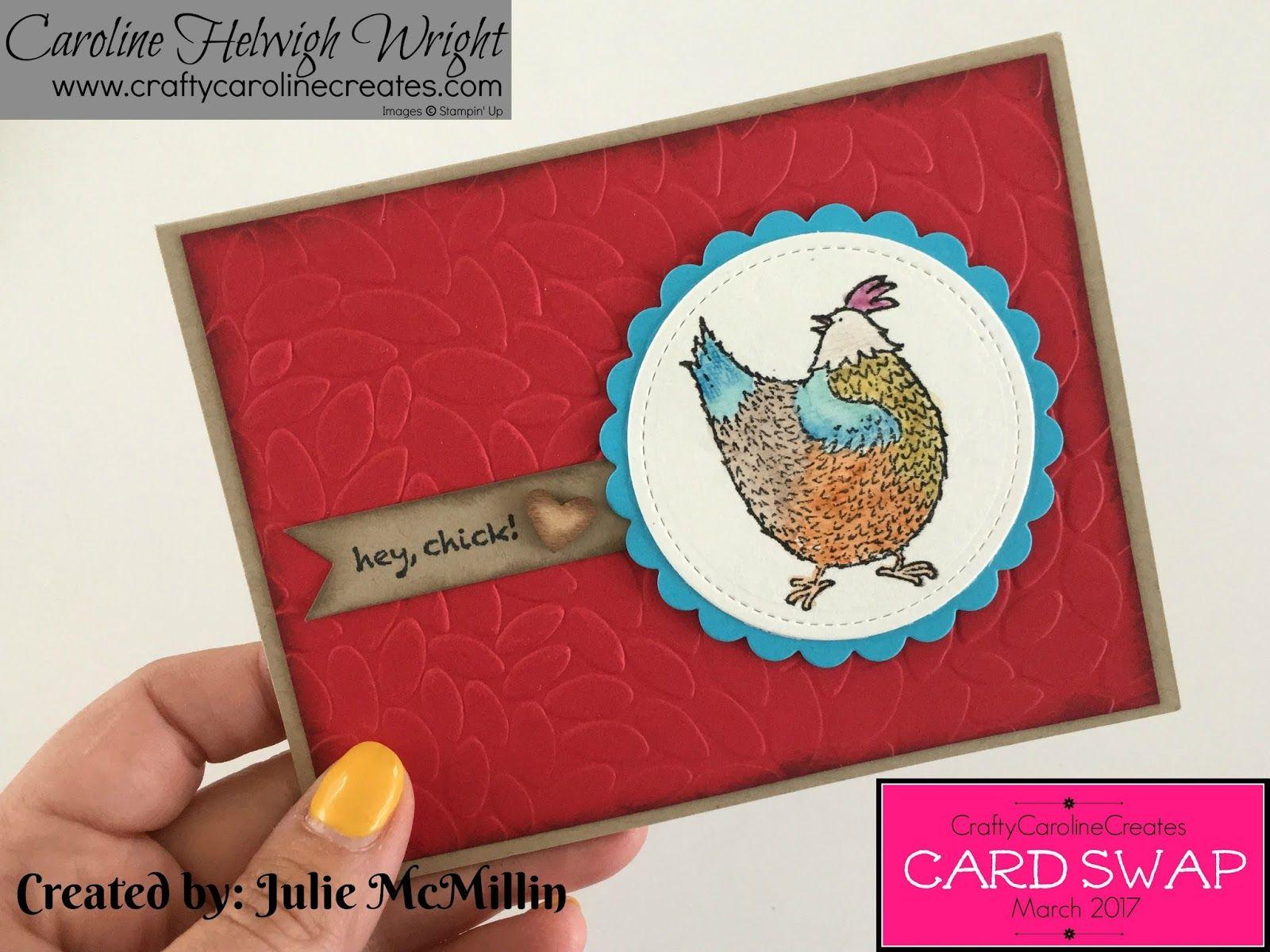 CraftyCarolineCreates March Card Swap Showcase