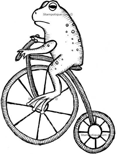 Rana en bici | Dibujos | Pinterest | Ranas, Sapito y Bici