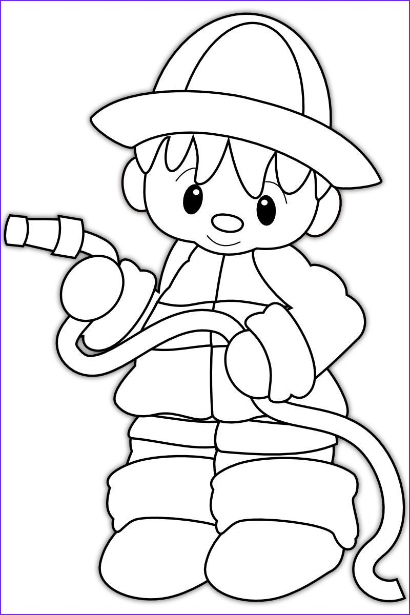 Firefighter Coloring Page Firefighter Helmet And Boots Coloring