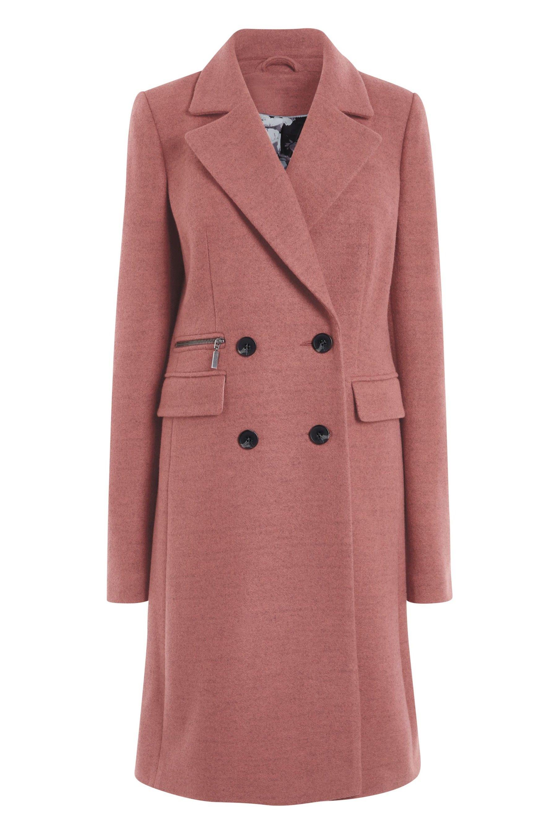 10729f068 Womens Next Pink Revere Coat - Pink