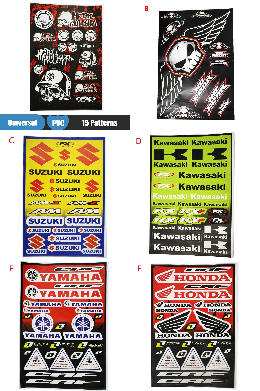 Visit To Buy Waterproof Motorcycle Car Stickers Sheet Motocross - Stickers for motorcycles kawasaki