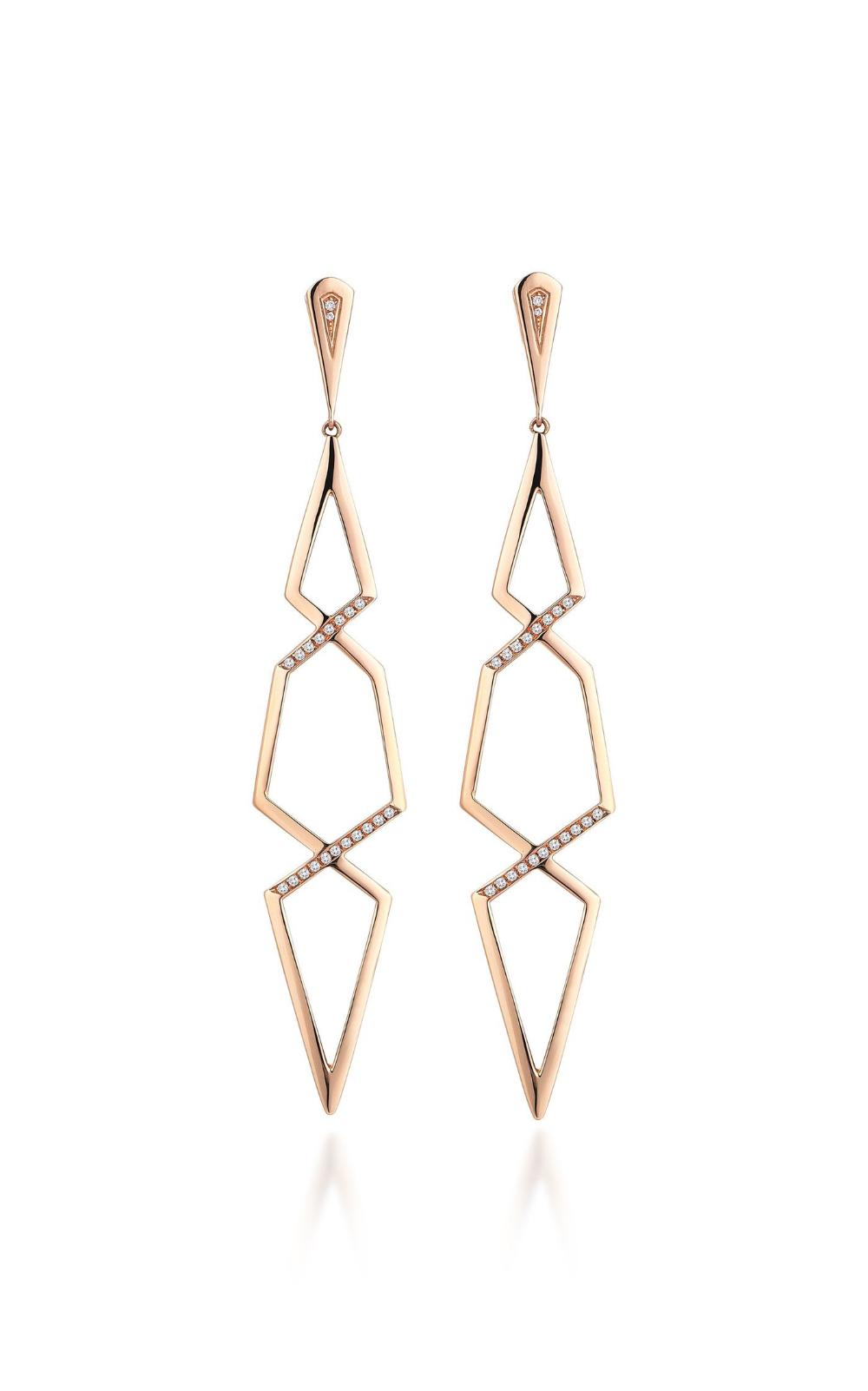 Altuncan 18k Rose Gold Diamond Earrings By Gilan | Moda Operandi