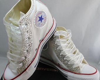 861f3cc04709 Looking for the cutest custom converse  Look no further! These beauties are perfect  for any special occasion! They are made to order and are 100% ...