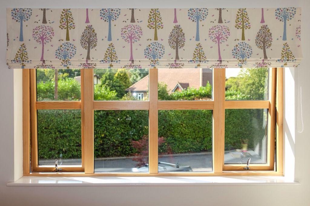Roman Blind With Blackout Lining Fitted On The Outside Recess For A