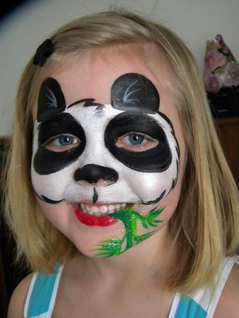 maquillage enfant panda face w bamboo maquillage enfant pinterest maquillage enfant. Black Bedroom Furniture Sets. Home Design Ideas