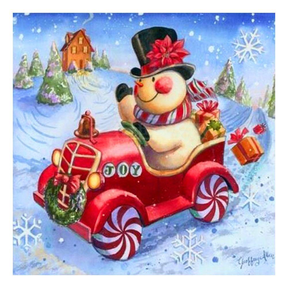 5D Cross Stitch Kits Diamond Painting of Christmas snowman Stitch Crafts