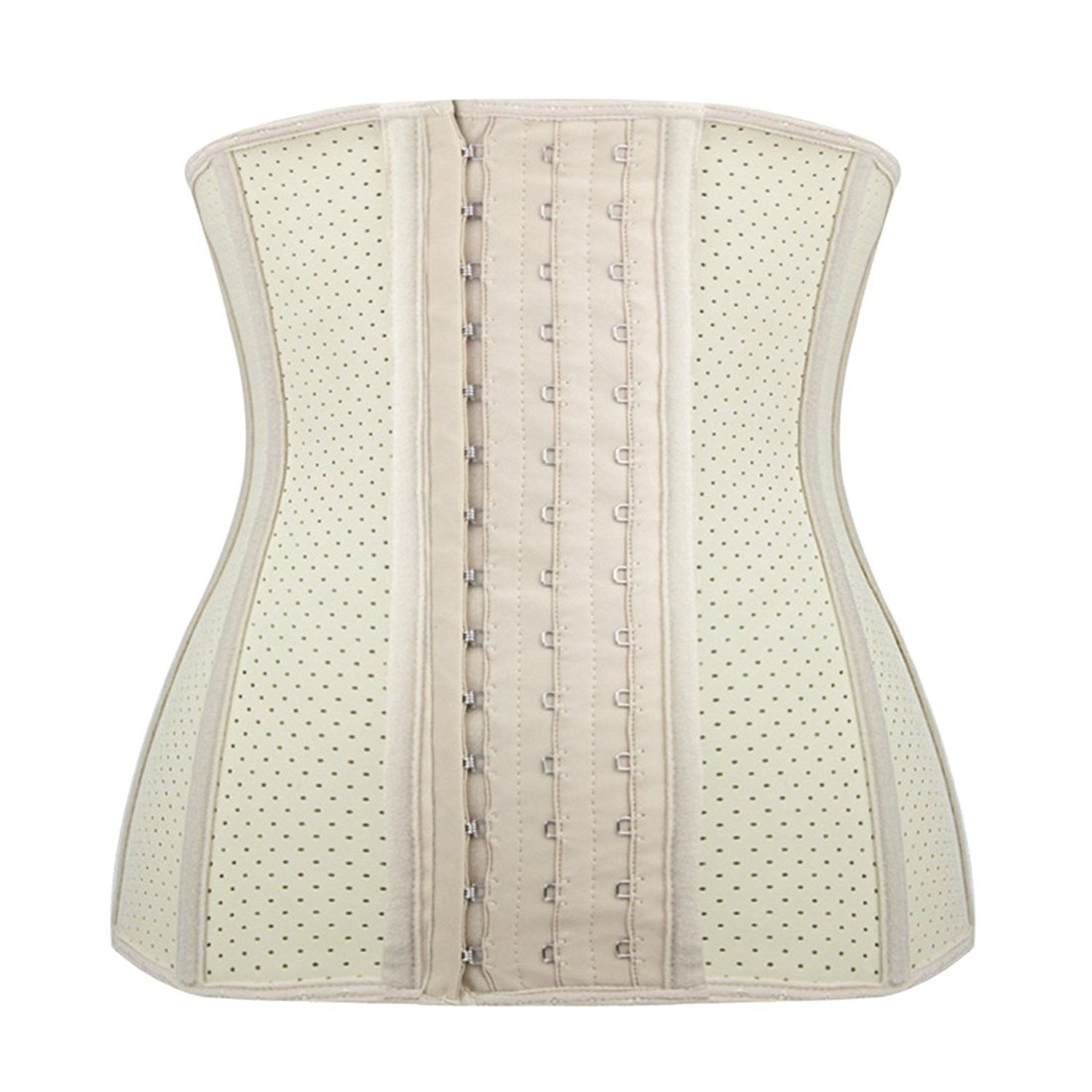 7672b82e12 Women Underbust Latex Sport Corset Waist Training Cincher 9 Steel Boned -  Beige - CN184UT2THZ