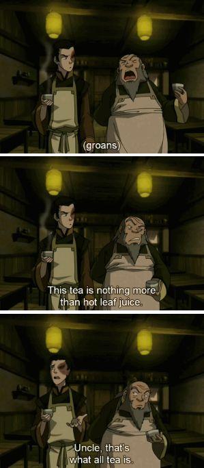 Uncle Iroh's secrete tea ingredient is love❤️ it's much more then hot leaf juice!