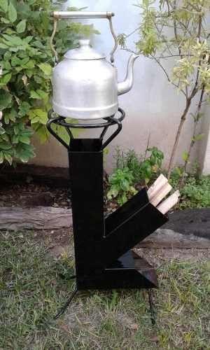 Cocina cohete economica rocket stove discos pavas hollas for Cocina con hidrogeno