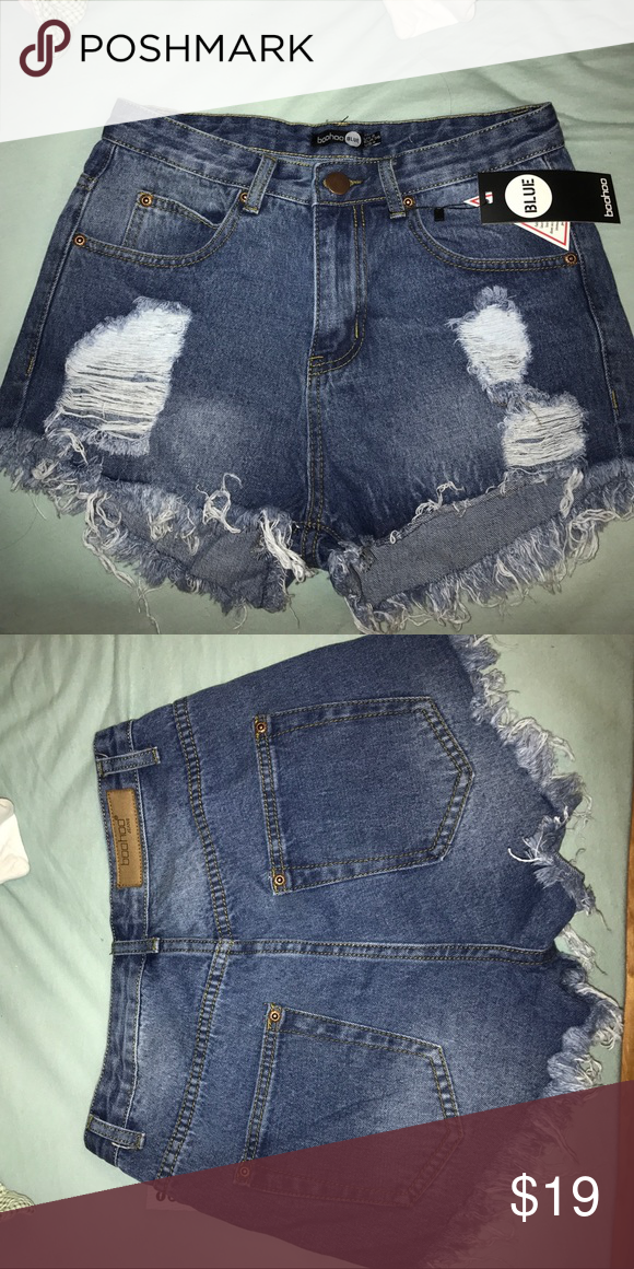 High waisted denim shorts size 4
