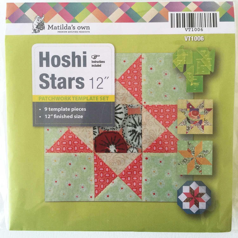 "Matilda s Own Hoshi Stars 12"" Patchwork Template Set"