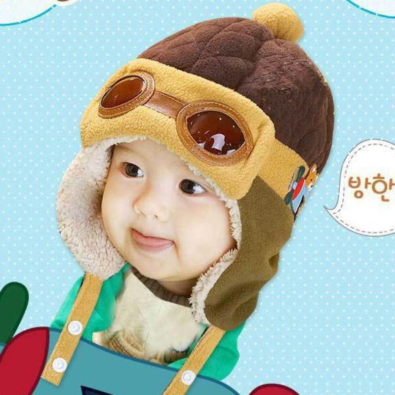 0b99d712b6cc2 Toddlers Warm Cap Hat Beanie Cool Baby Boy Girl Kids Infant Winter Pilot  Cap 4 Colors