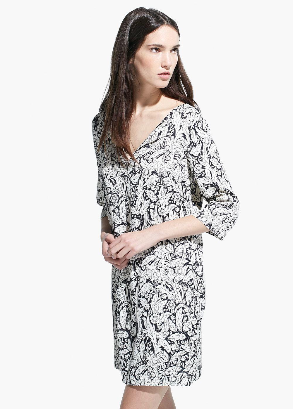 Cienka Sukienka W Kwiaty Kobieta Mango Polska Lightweight Dress Womens Dresses Dresses