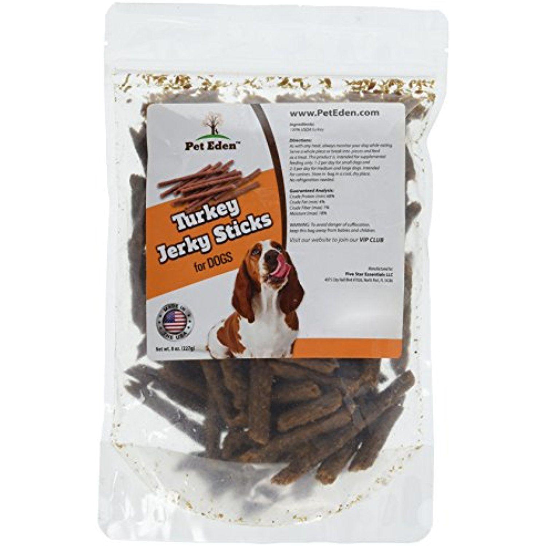 Turkey Jerky Dog Treats Made In Usa Only By Pet Eden 8 Oz Best