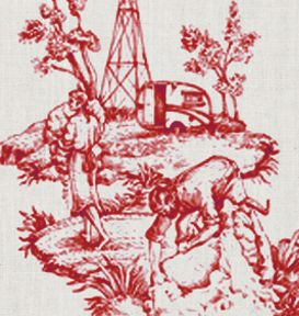 Modern Toile Fabric By Hemptech   Fitzroy Redcoat Part 55