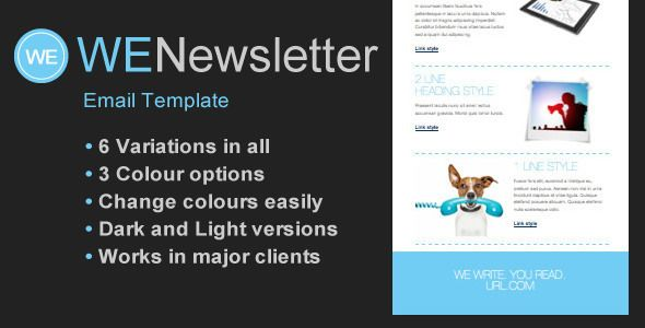 We Email Newsletter Template  We Has Features Such As Compatible