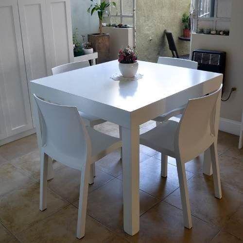 Mesa comedor laqueada minimalista madera moderna asia for Comedor minimalista