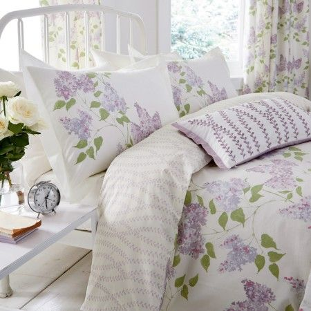 Lilac Floral Bedding By Sanderson At Bedeck 1951 Floral Bedding Lilac Bedding Bed Design