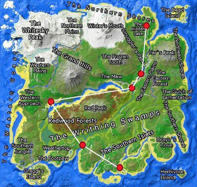 Beaver Dam Locations Center Map Ark Survival Evolved - YouTube   Ark Beaver Dam
