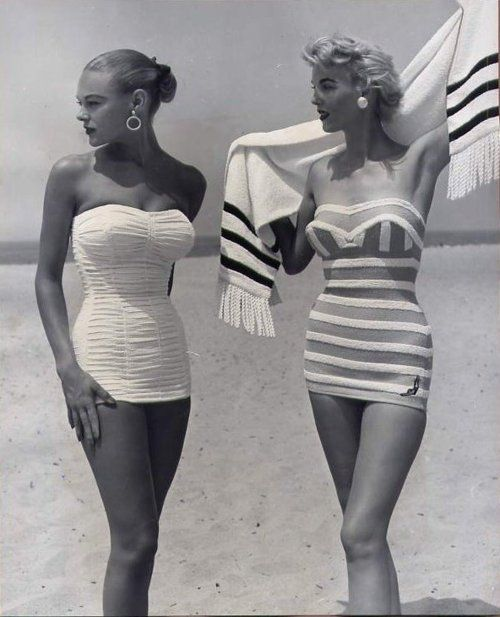 1950s swimwear...I remember how great my mom & aunties looked in these......amazing that now they are mostly wearing just a string up their butt! #vintagefashion1950s