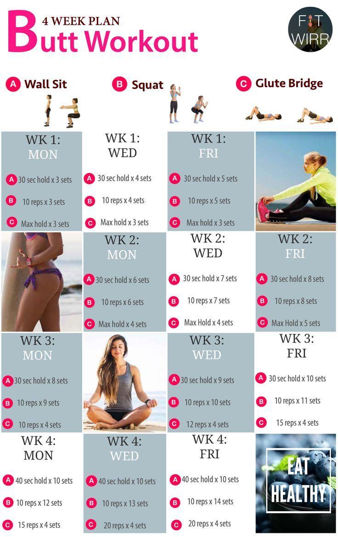 Best Butt Exercises For Women Week Butt Workout Plan  Workout