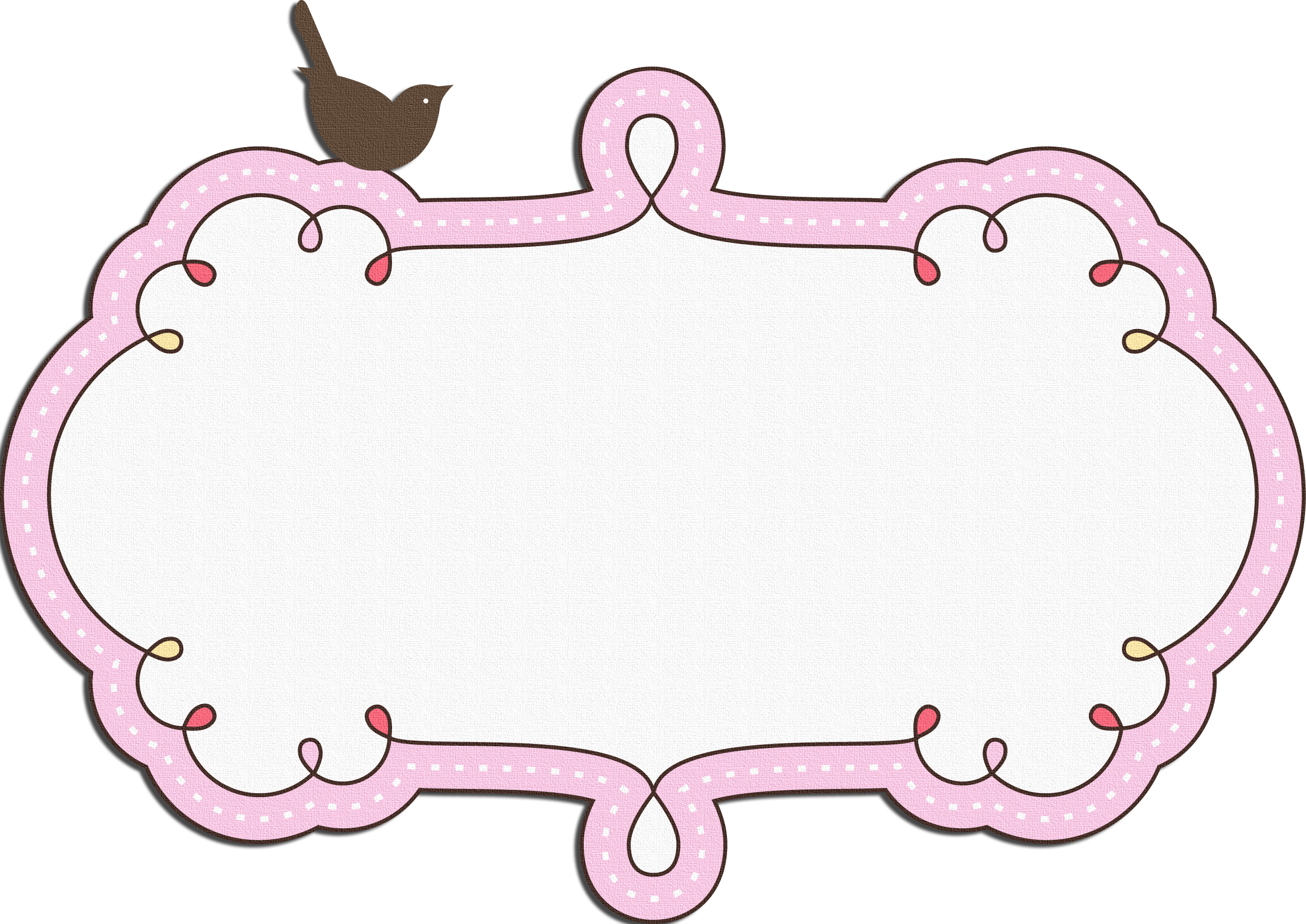 Pinky Bird frame | fondo tarjeta | Tags, Home Decor y Frame