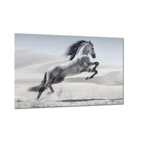 Photo of East Urban Home Glasbild Horse | Wayfair.de