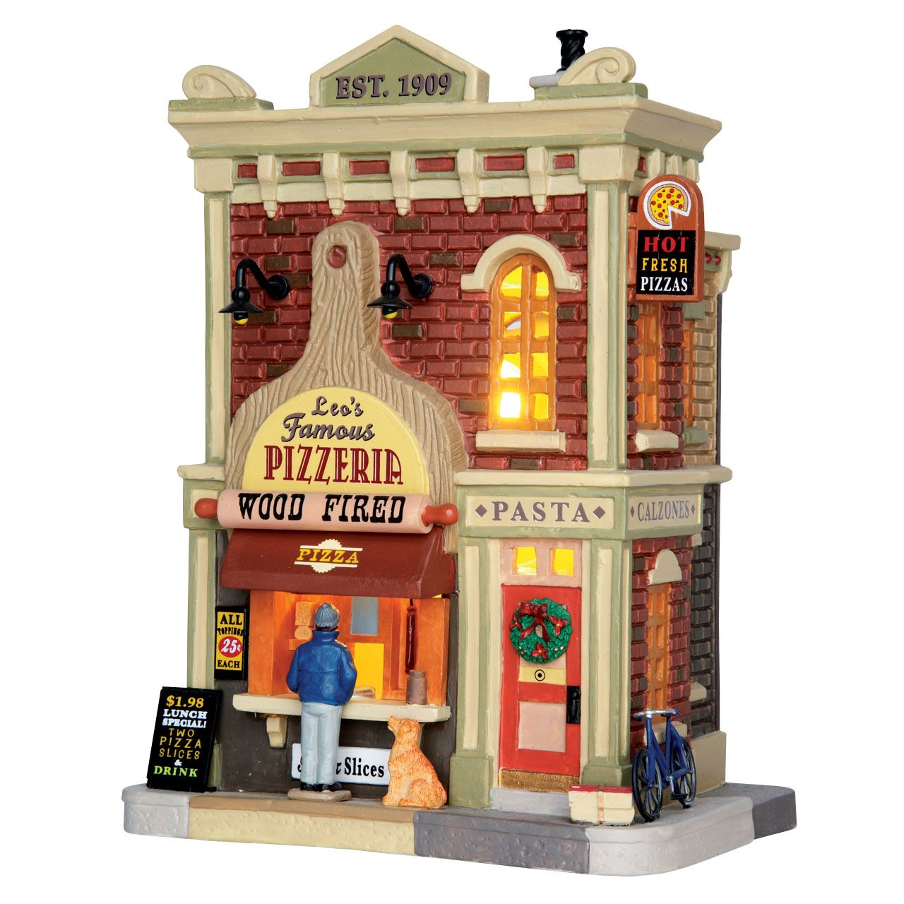 Lemax Leo's Famous Pizzeria. SKU 65151. Released in 2017