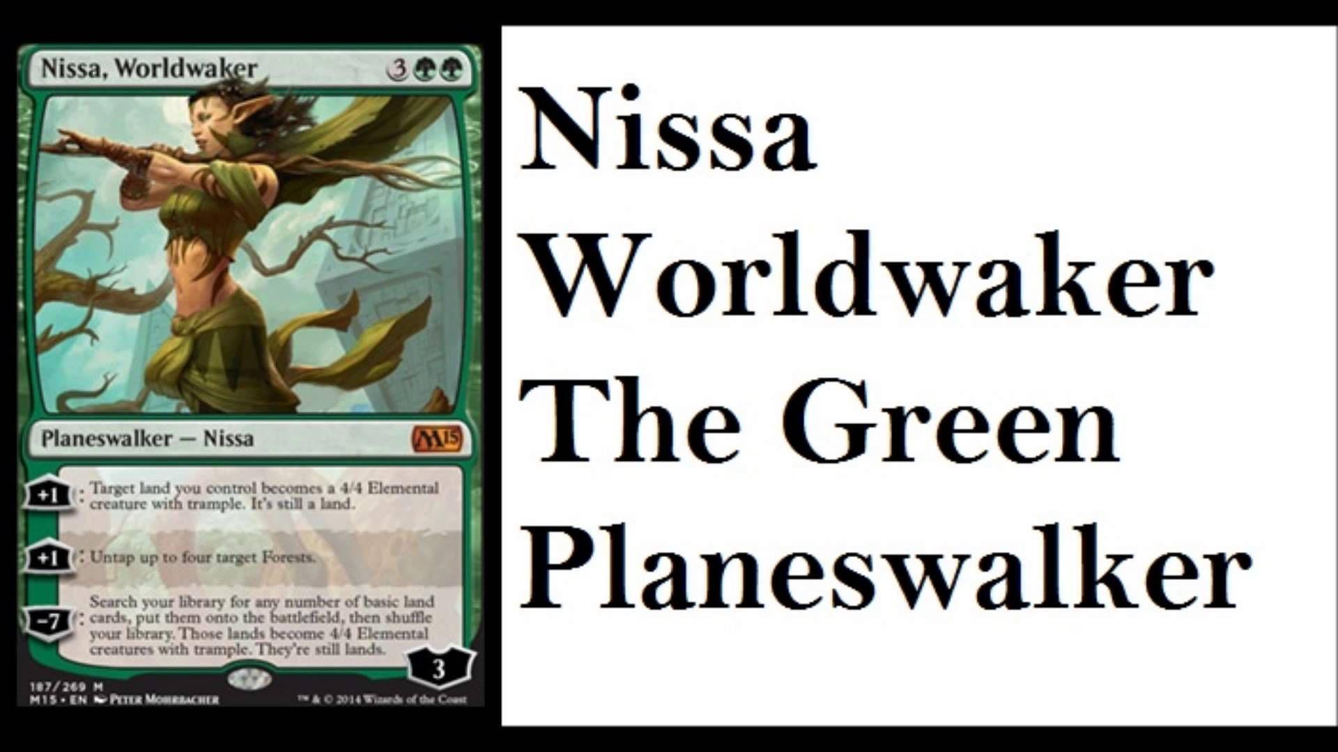 Nissa Worldwaker M15 Spoilers Elf Princess Magic Channel
