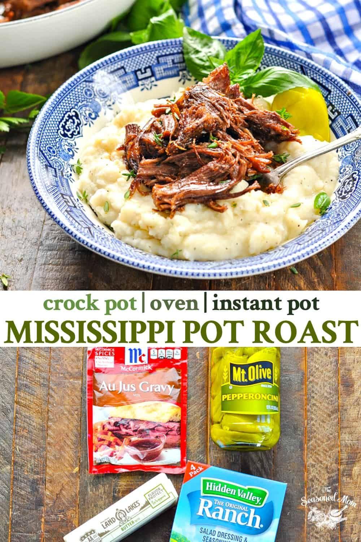 Mississippi Pot Roast #crockpotmeals