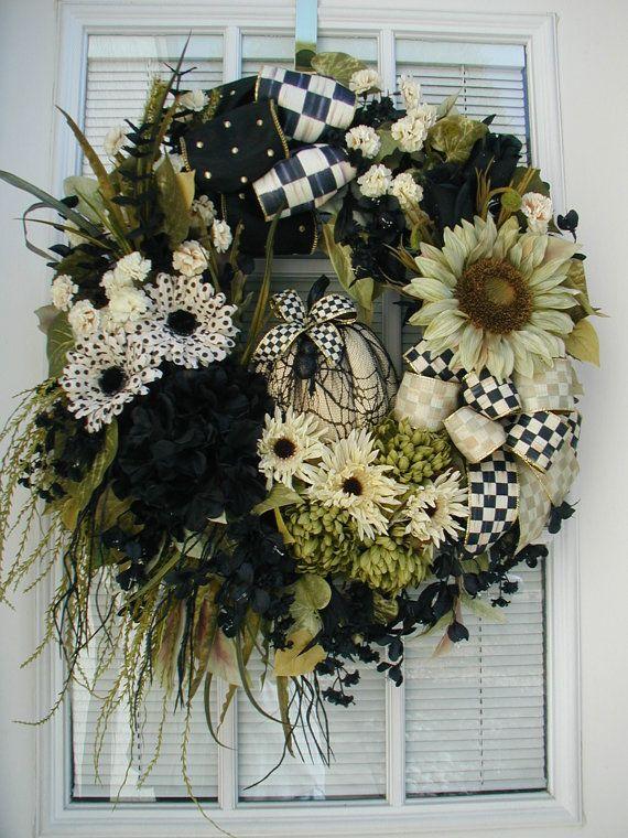 Elegant Halloween Wreath Front Door Decoration Spider Web Net - elegant halloween decorations