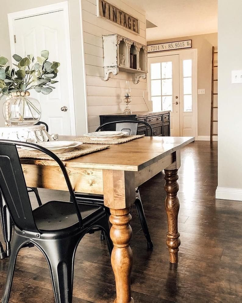 Unfinished Cottage Farmhouse Dining Table Legs Turned Wood