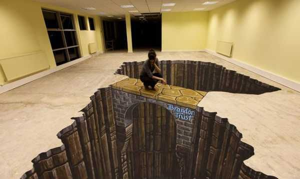 3d Art by Joe Hill Reinventing Modern Floor Painting and Decorating Ideas