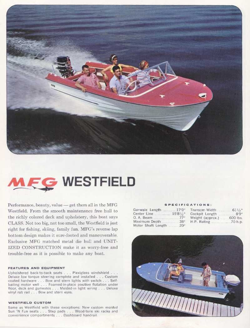 MFG Westfield Custom Vintage Boats, Boating, Boating Holidays, Sailing,  Canoeing