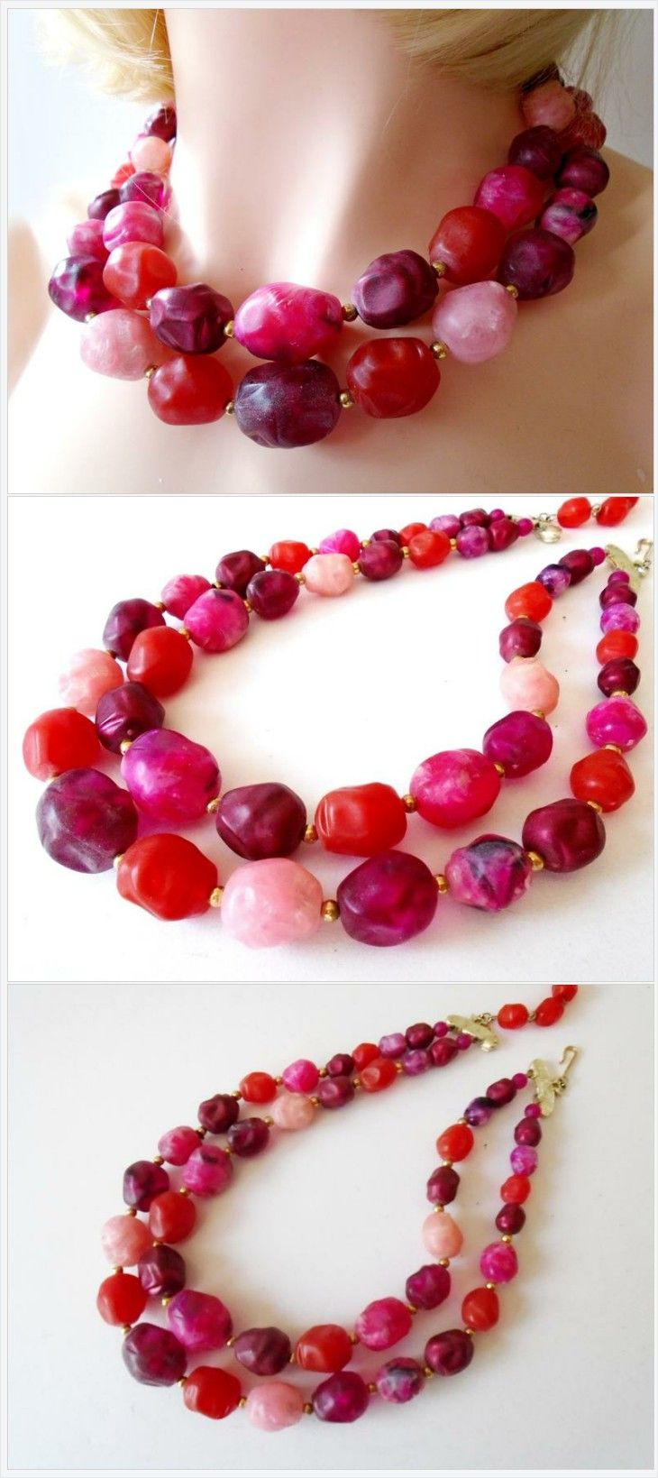 21/'/' 5 Rows Round Garnet Faceted Nugget Necklace