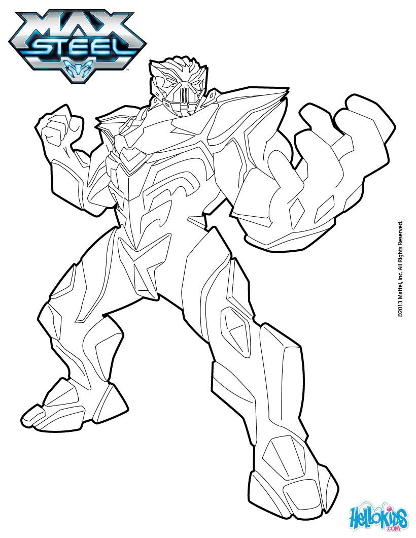 miles dredd coloring page more max steel content on hellokids com